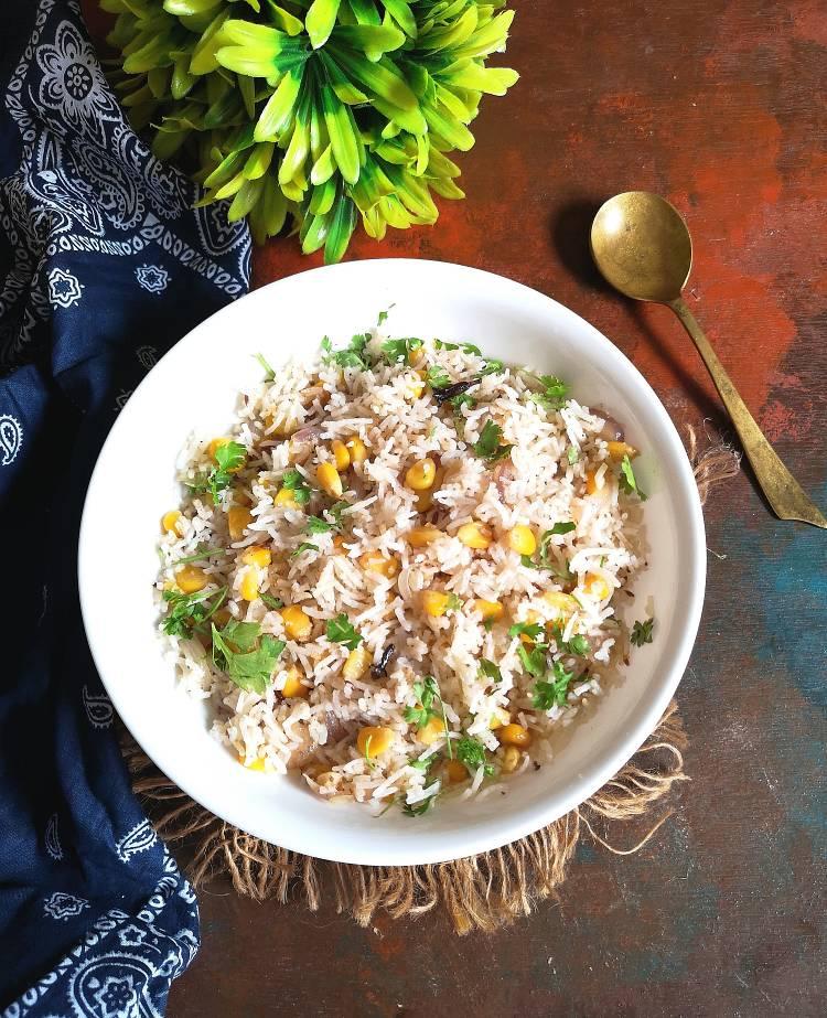Recipe of Sweet Corn Pulao | How to make sweet corn rice