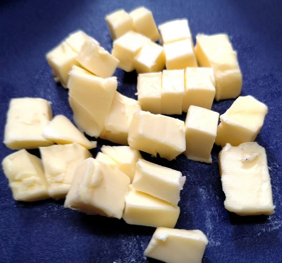 Cold Butter Cubes for Galette dough