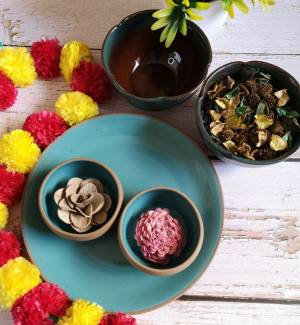 Ceramic plates, katoris and bowls from ExclusiveLane