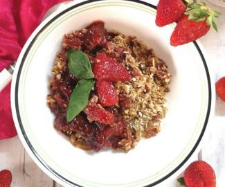 Recipe of Strawberry Oats Crumble, Recipe of Strawberry Oats Crumble