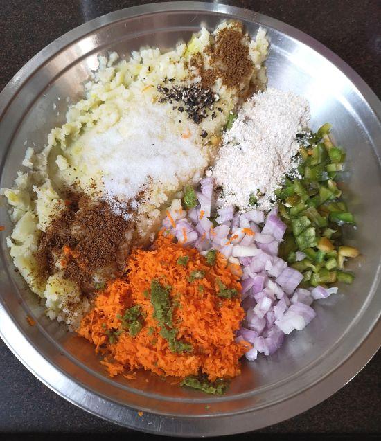 Recipe of Veg Cutlet, ingredients for easy veg cutlet recipe