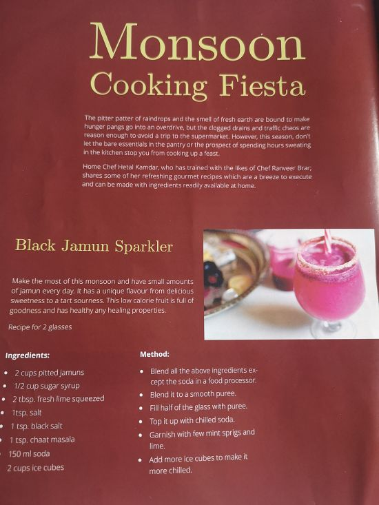Recipes published in Being Woman Magazine