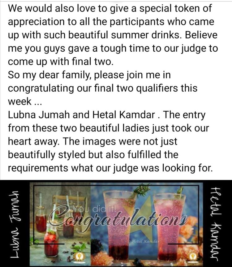 winner as a food stylist