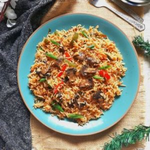 Mushroom Rice, Mushroom Fried Rice