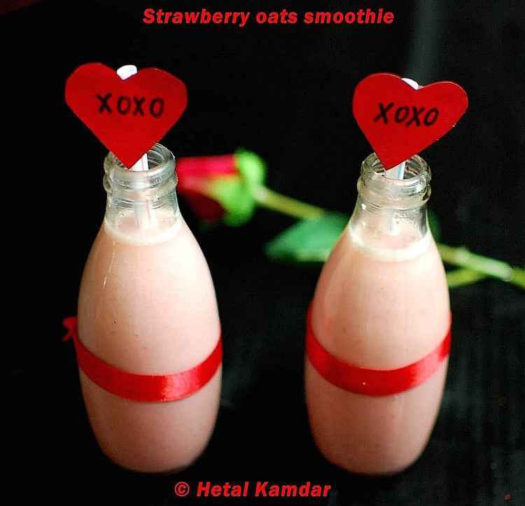 Strawberry and Oats Smoothie Recipe
