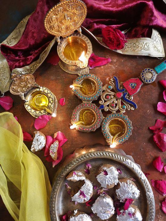 Brass Diyas from Tokenz