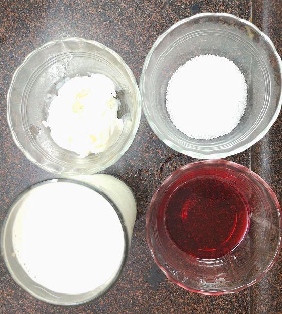 Ingredients for Rose Milkshake Recipe