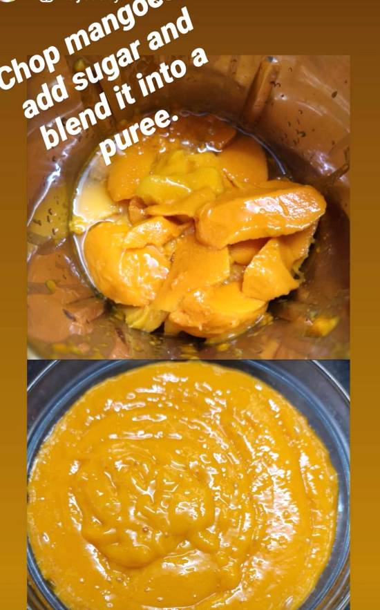 Mango Puree for Mango Chia Pudding