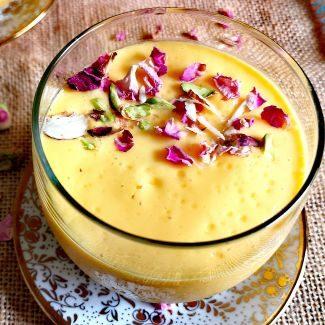 close up photo of Mango Lassi Recipe